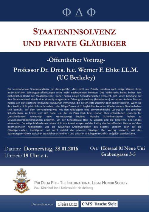 Vortrag Staateninsolvenz und private Gläubiger